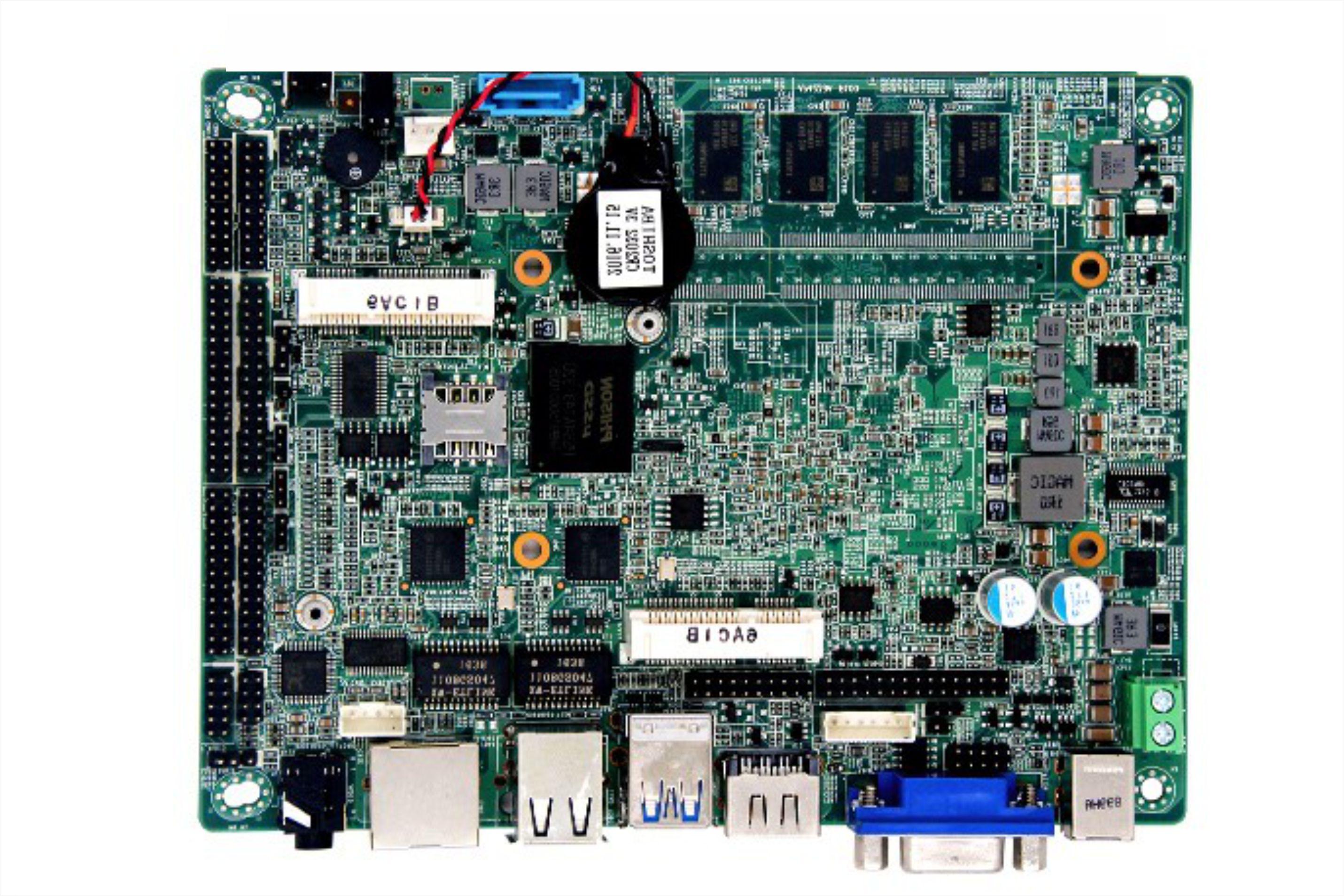 Apollo lake系列处理器嵌入式工业主板背面散热